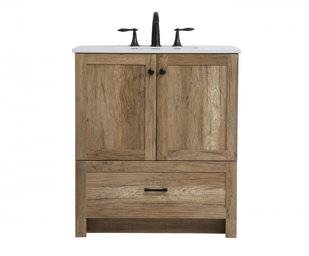 30 Inch Single Bathroom Vanity In Natural Oak Vf2830nt Panic Lighting